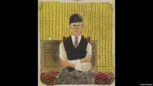 David Hockney, Self Portrait, 1954, Lithograph in Five Colours