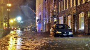 Flooding in St Peter Port
