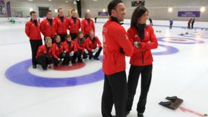 GB men's and women's curling teams