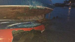 Boats damaged in Porthleven