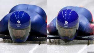 Lizzy Yarnold (left) and Shelley Rudman (right)