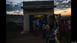 """A shop called """"Modern Wines & Spirits"""" in a village in western Kenya which is licensed to sell alcohol"""