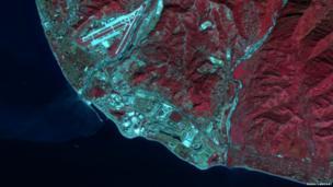 Nasa satellite image of Sochi, Russia