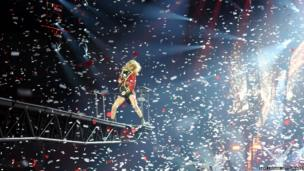 Taylor Swift performs at the O2 Arena in London