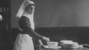 A Home Sister working at Endell Street Military Hospital during World War One
