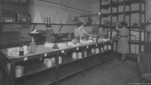 The kitchens at Endell Street Military Hospital during World War One