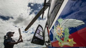 The baton was flown by Namibia Police Air Wing helicopter to the capital Windhoek in Namibia.