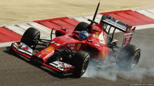 Ferrari's Fernando Alonso at the Bahrain International Circuit
