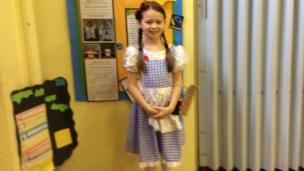 Ellie dressed as Dorothy from Wizard of Oz