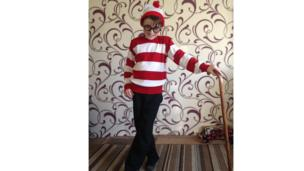 Christopher dressed as Where's Wally
