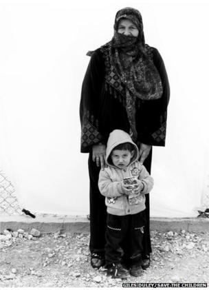 Fidaâ, 64, with her grandson, Basim aged three