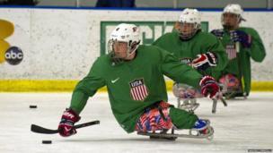 US sled hockey team