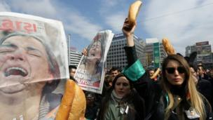 Turkish lawyers protest in Ankara, Turkey (12 March 2014)