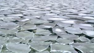 Ice on the Baltic Sea in Helsinki