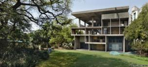 Villa Shodhan, Ahmedabad, India, 1951-56. View of the exterior (2012)