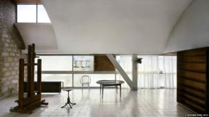 Le Corbusier's studio, rue Nungesser-et-Coli, Paris, 1931-34. View of the interior