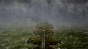 Peter Archer, Causeway, Oil on canvas, 82 x 142 cm