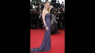 Nicole Kidman wears an embroidered L'Wren Scott dress for the screening of the film Inside Llewyn Davis at the 66th international film festival, in Cannes.