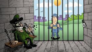Egyptian cartoonist image of freedom