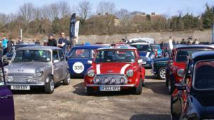 Cars on show at Brooklands Mini Day 2014