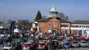 Cars on display during Brooklands Mini Day 2013