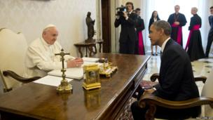 Pope Francis meets with US President Barack Obama