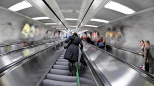 Helsinki Metro escalator