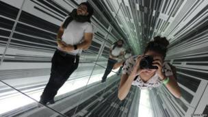 Mirror box in a Christchurch gallery