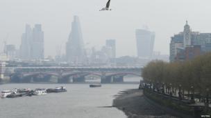 Smog in central London
