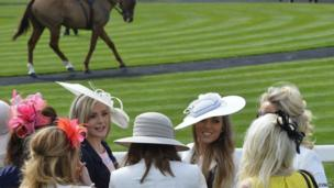 Race goers at Ladies Day