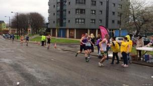 Runners in Sheffield.