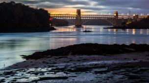 Britannia Bridge on Anglesey, as photographed by Kristian Lewis