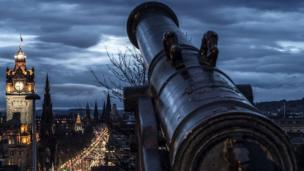 Cannon overlooking Princes Street