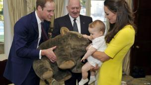 Prince George and his cuddly wombat