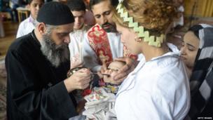 Christian priest in Egypt