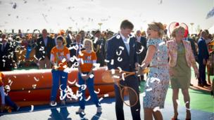 King Willem-Alexander and Queen Maxima play tennis in De Rijp for King's Day (26 April)