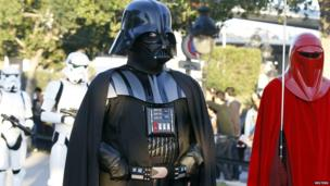 People dress as Star Wars characters in Tunis, Tunisia - Wednesday 30 April 2014