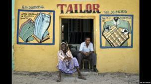 A tailor's shop in Qoryooley, Somalia - Tuesday 29 April 2014
