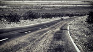 Motorcyclist in California