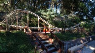 Back yard rollercoaster