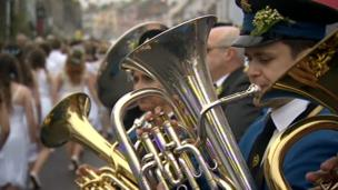 Helston Town Band members