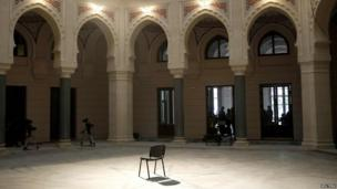 Restored hall of national library