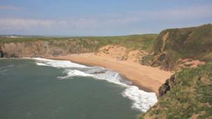 Sandtop Bay on Caldey Island, Pembrokeshire