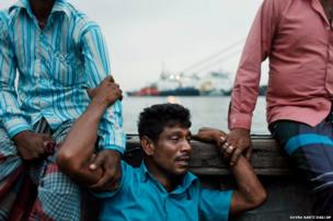 A Bangladeshi man mourns for his missing brother