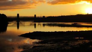Menai Strait at sunset