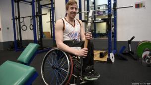 Wheelchair basketball player James MacSorley