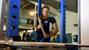 Northern Ireland's pole vault record-holder Zoe Brown