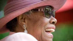 Maya Angelou attends her 82nd birthday party at her home in May 2010 in Winston-Salem, North Carolina