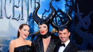 Actress Angelina Jolie (left) attends the World Premiere of Disney's 'Maleficent' at the El Capitan Theatre on May 28, 2014 in Hollywood, California.