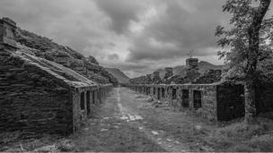 The ruins of Anglesey Barracks at Dinorwic Slate Quarry